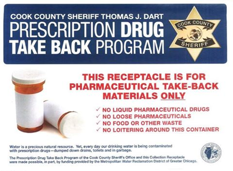 Cook County Prescription Drug Takeback Program description