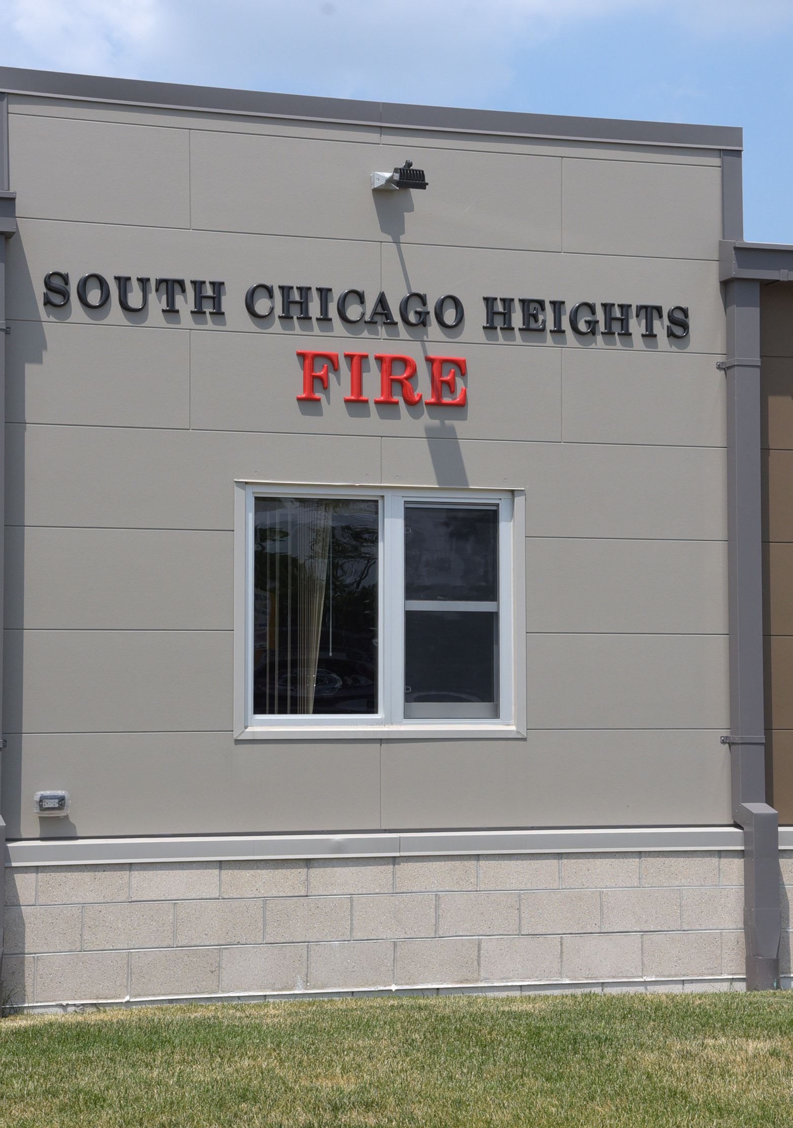 Front of the South Chicago Heights Fire Station