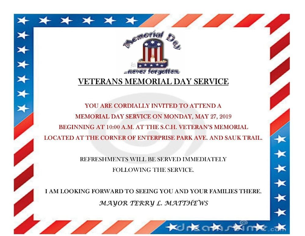 MEMORIAL DAY SERVICE FLYER 2019